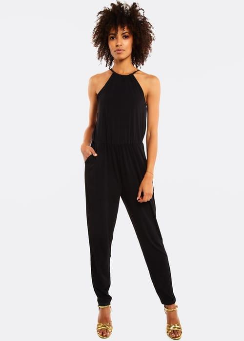 Black Jumpsuit with Elastic Waist