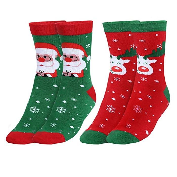 57% off Wicking & Antibacterial Coolmax Socks for Christmas Socks, 2 Pack