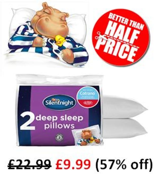 BETTER than HALF PRICE! Silentnight Deep Sleep Pillows (2 PACK)