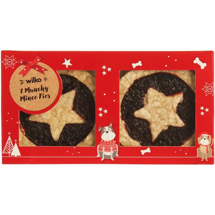 Wilko Christmas Munchy Mince Pies for Dogs 2pk