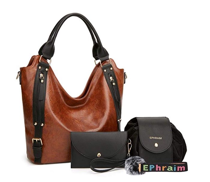 Women Leather Shoulder Handbags 4pcs