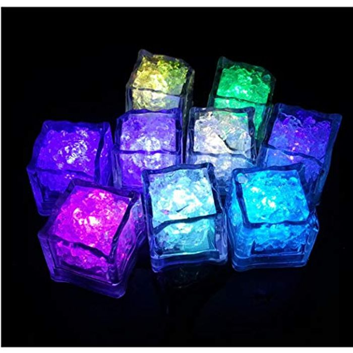 LED Glowing Ice Cubes Colorful Flash Ice