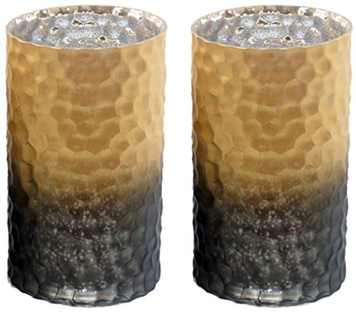 2 X Yankee Candle Classic Black & Copper Large Jar Holder