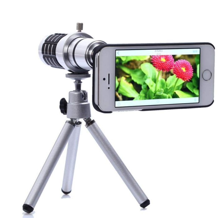 12x Optical Zoom Universal Smartphone Telephoto Telescope Lens with Tripod