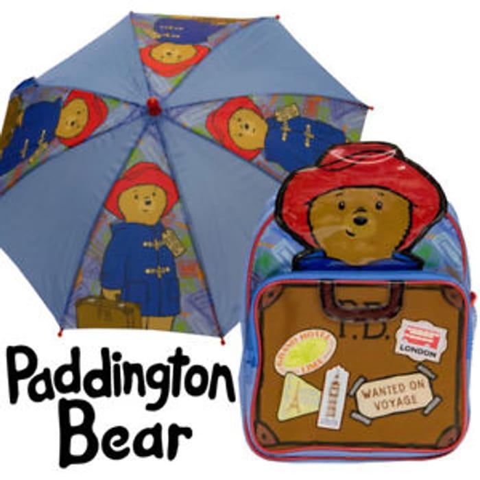 Paddington Bear Rucksack with Free Paddington Bear Umbrella
