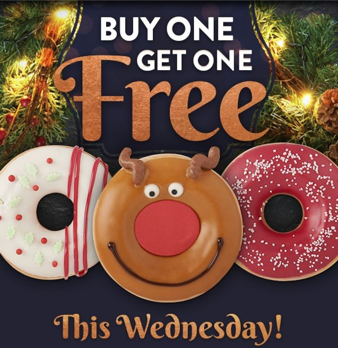 Buy One Get One Free on 3 Christmas Doughnuts