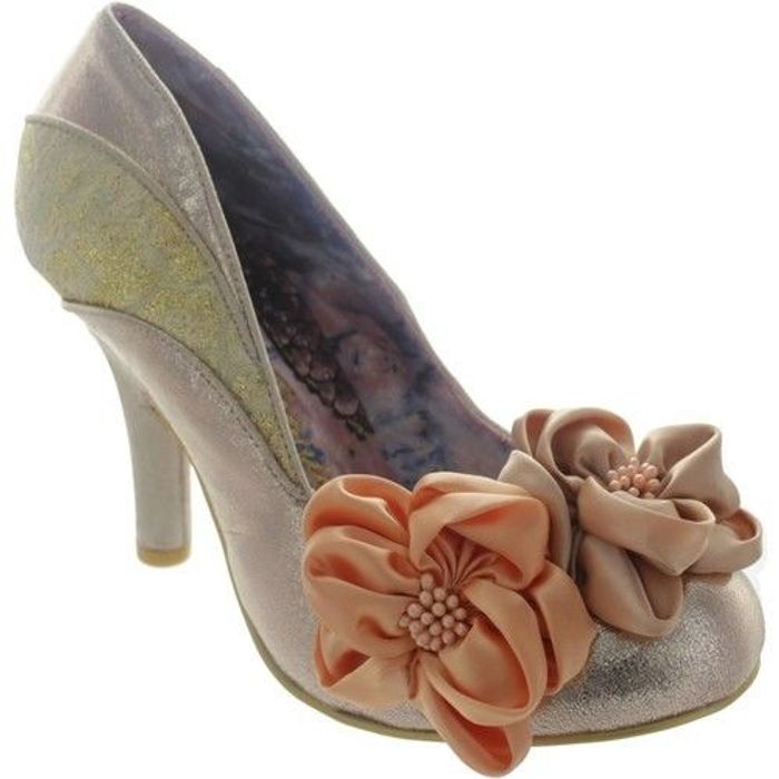 Irregular Choice Peach Melba Rose Gold Shoes Only £29.99