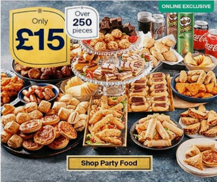 Iceland Party Food £15 Offer - Over 250 Pieces for Christmas