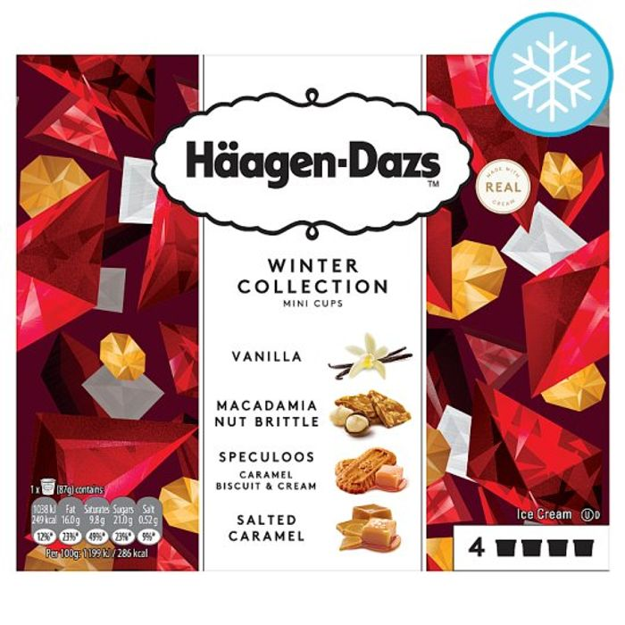 Haagen-Dazs Minicups Winter Collection 4X100ml