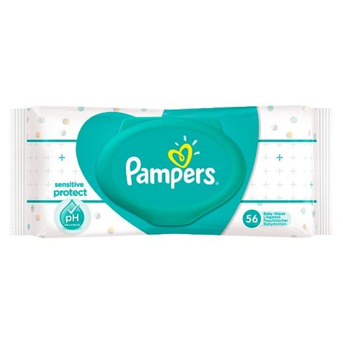 Pampers Sensitive Baby Wipes 56 Pack HALF PRICE