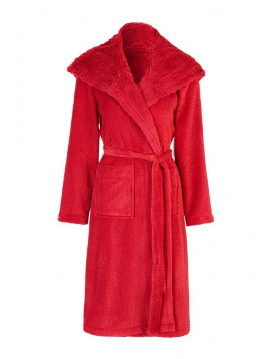 *HALF PRICE* Womens Soft Hooded Dressing Gown Red or Black