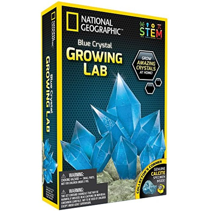 NATIONAL GEOGRAPHIC Blue Crystal Growing Lab - DIY Crystal Creation