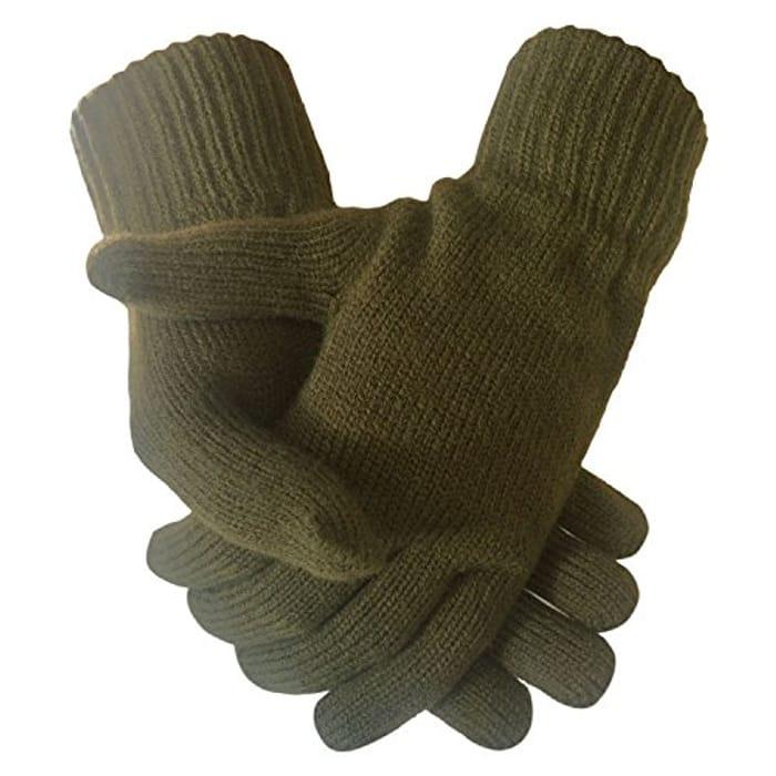 Green Khaki Mens Gloves
