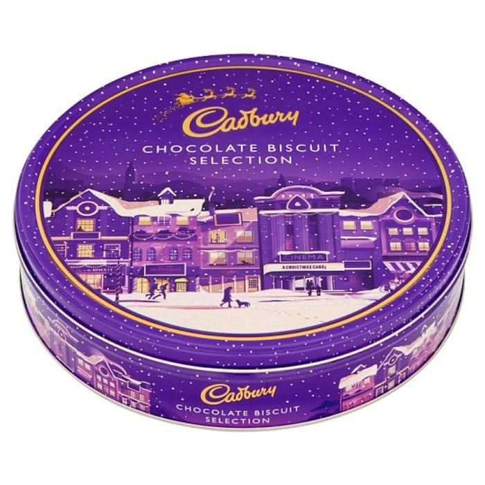 Cadbury Biscuit Selection Christmas Tin 247g 4 At Tesco