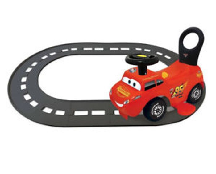 Kiddieland Disney Cars Lightning McQueen 3 in 1 Ride-on Toy with Track