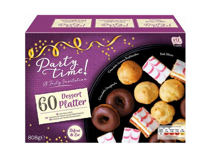Partytime 60 Piece Dessert Platter 399 At Lidl Offers