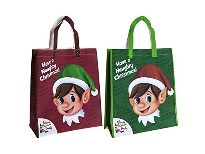 Online Pound Store - Cheap Christmas Elfs Shopping Bag