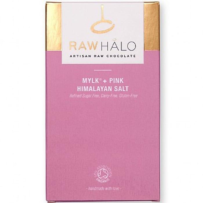 Raw Halo Mylk + Pink Himalayan Salt Raw Chocolate Bar (35g)