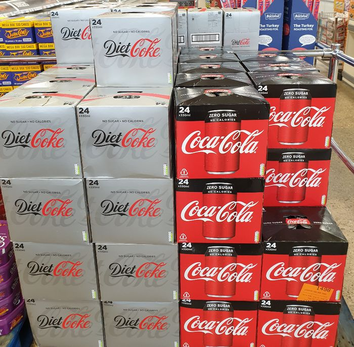 Diet Coke / Coke Zero 24 Pack - £5.49 at Iceland the Food Warehouse