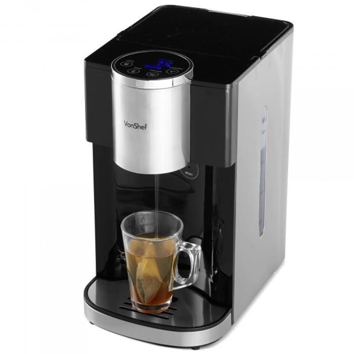 VonShef 4L Black Hot Water Dispenser