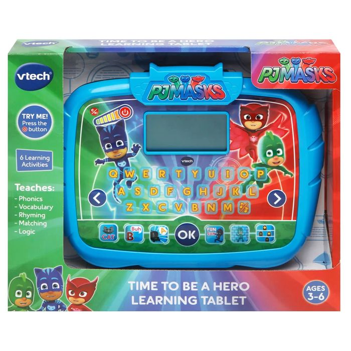 Rollover to Zoom Vtech PJ Masks Time to Be a Hero Learning Tablet