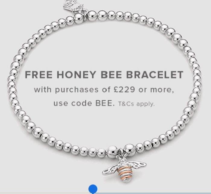 Get Free Bee Bracelet with Purchase over £229