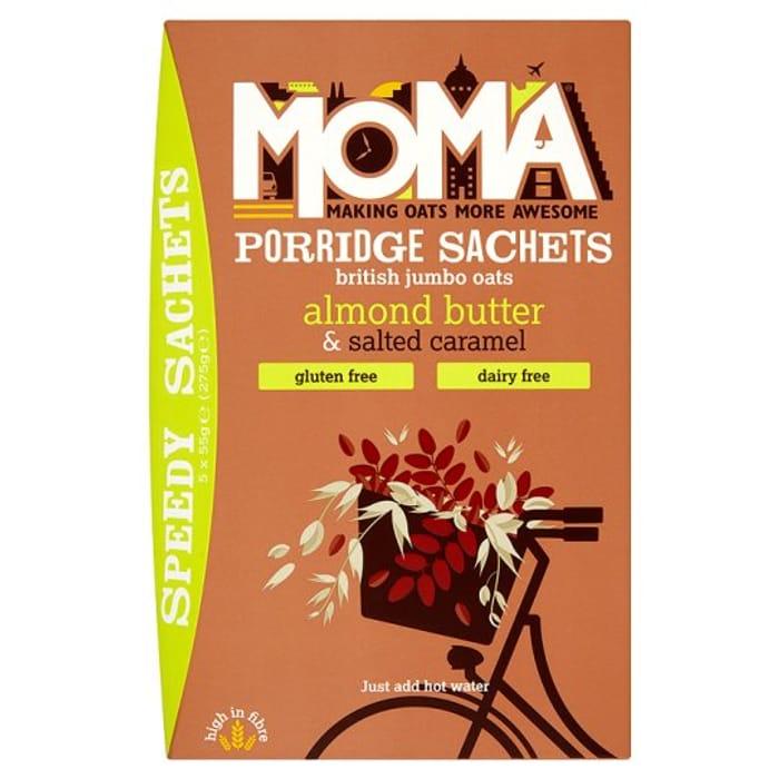 Moma Porridge Almond Butter and Salted Caramel 5X55g