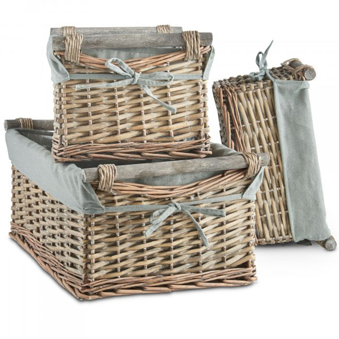 3 Willow Baskets