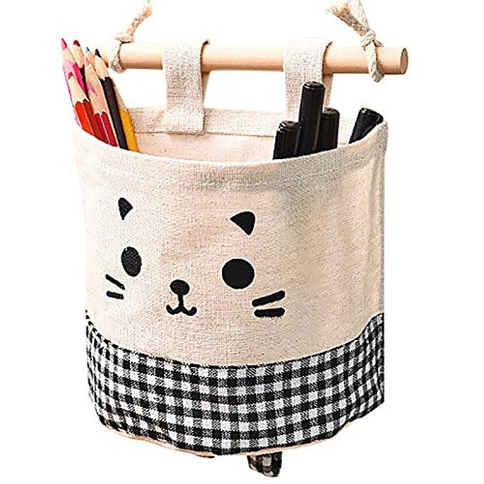 Cute Cat Storage Basket £1.33 with Delivery, Colour Black