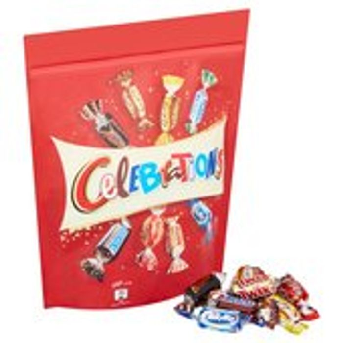 Celebrations Pouches 450g Buy One Get One Free, Two for £3.50