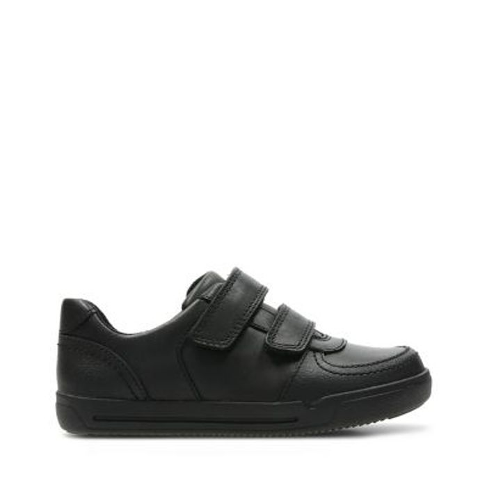 Clarks Obie Play Kid Kids School Shoes Black Leather Limited Stock