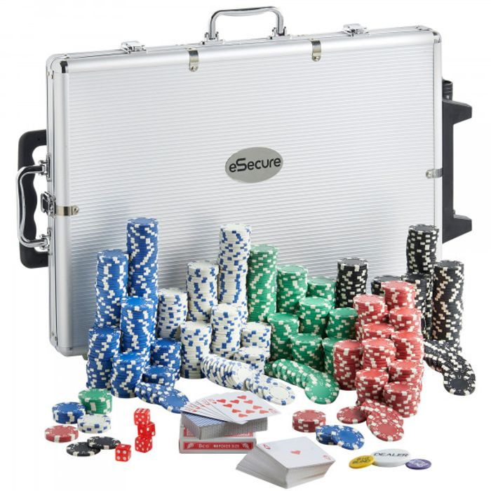 1000pcs Poker Set + Accessories