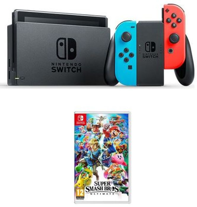 NINTENDO Switch & Super Smash Bros. Ultimate Bundle