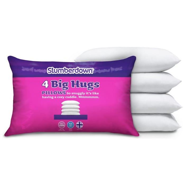 Slumberdown Big Hugs 4 Pack of Pillows