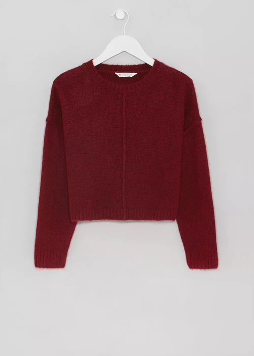 Girls Candy Couture Oversized Cropped Knit
