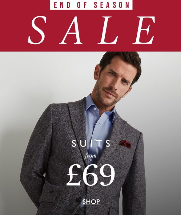 Moss Bros End of Season Sale and Additional 20% off Orders over £100
