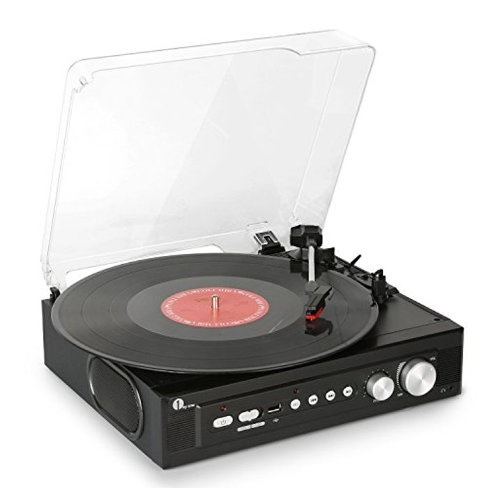 Stereo Record Player with Built in Speakers