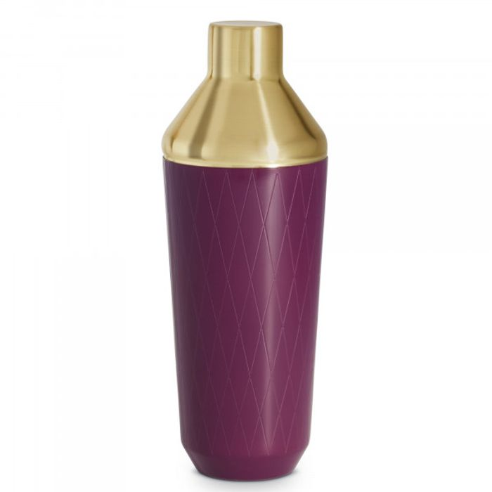 VonShef Purple & Brushed Gold Cocktail Shaker