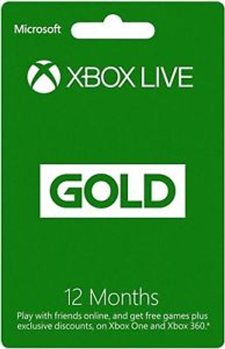 Microsoft 12 Month Xbox Live Gold Membership Subscription for Xbox One Xbox 360