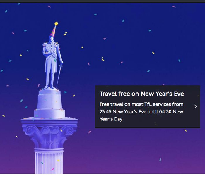 Free Travel This New Years Eve on Tubes and Buses in London