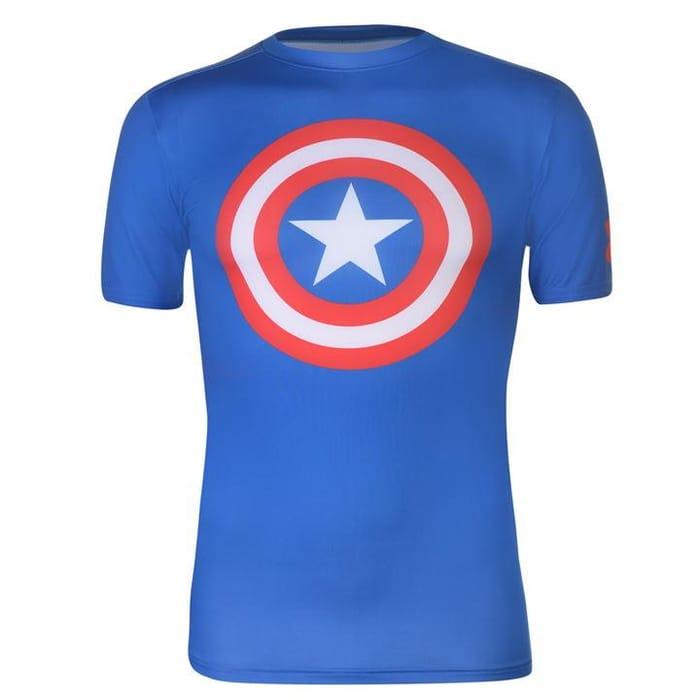 S/m/l Under Armour Captain America Compression Shirt
