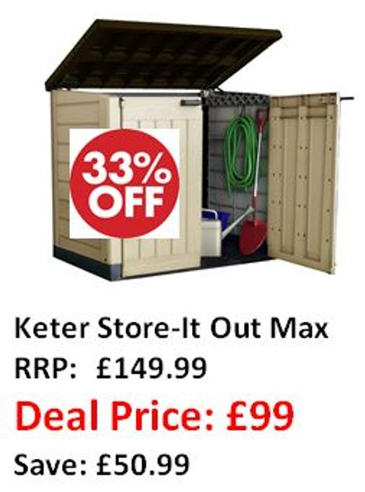 SAVE £50 - Keter Store-It out Garden Storage Shed - AMAZON #1 BEST SELLER
