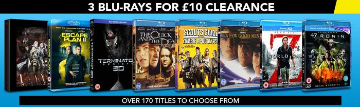 3 Blu-Rays for £10 Delivered. 170 to Choose From. 10% Discount for New Accounts.