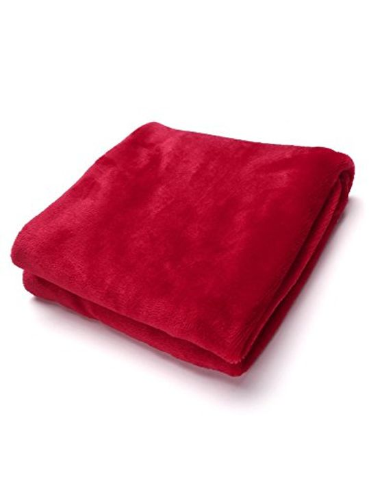 Warm Thick Flannel Sofa Throw Blankets on Bed