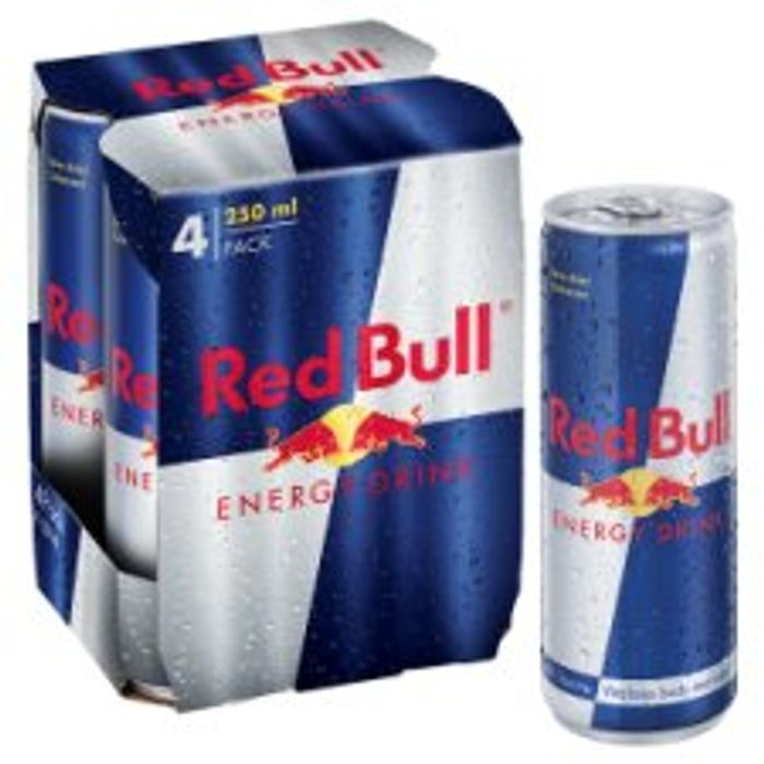 Red Bull Energy Drink 4 X 250Ml £3 Tesco