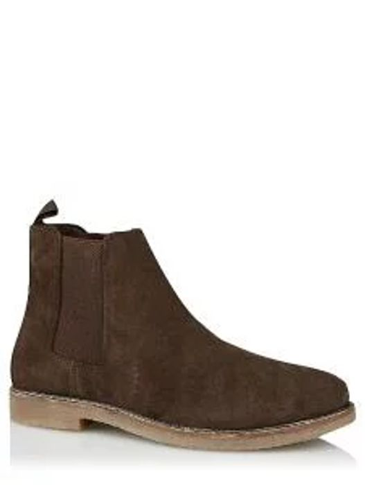 Brown Suede Elastic Panel Chelsea Boot Click & Collect