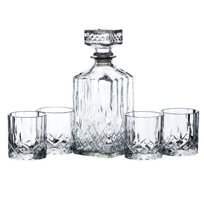 Bar Craft Whiskey Decanter & Tumbler Set