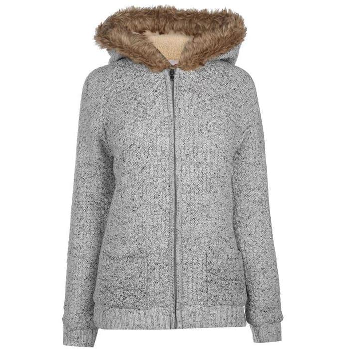 Pre-Order Lee Cooper Hooded Zip Knit Jacket Ladies