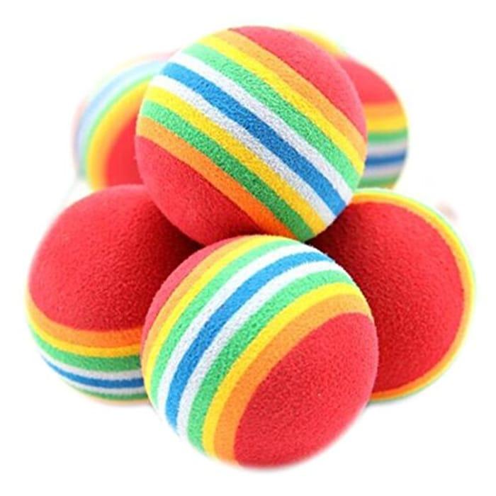 10Pcs Rainbow Toy Balls