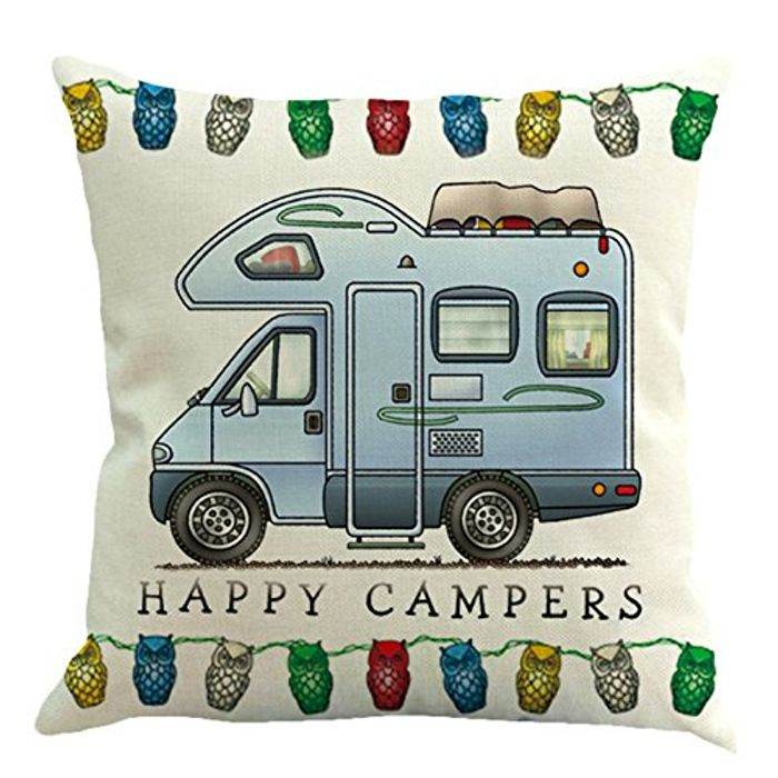 Happy Camper Cushion Cover! £1.95 Inc Delivery